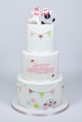 FMM Sugarcraft - Curved Words. Just Married Cutter