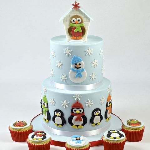FMM Sugarcraft - Mummy & Baby Penguin Cutters