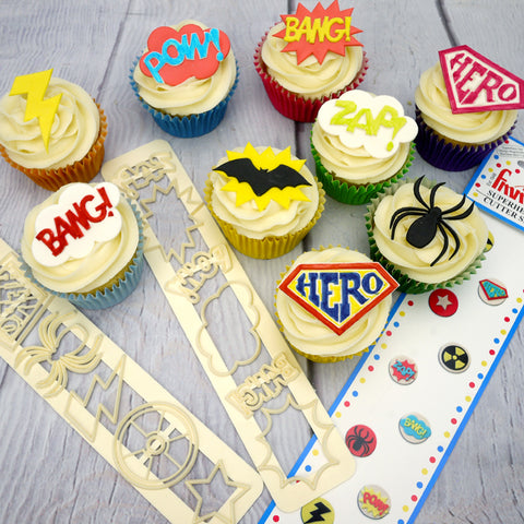 FMM Sugarcraft - Superhero Cutter Set