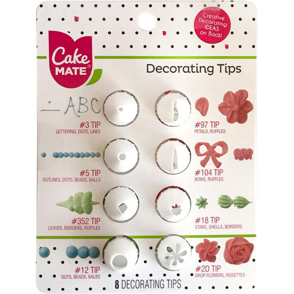 Cake Mate - Decorating Tips 8/Pkg