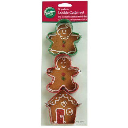 Wilton - Gingerbread 3pc Cookie Cutter Set