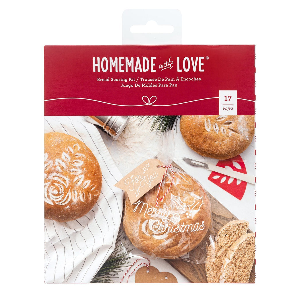 Homemade With Love - Bread Scoring Kit - Christmas (17 pieces)