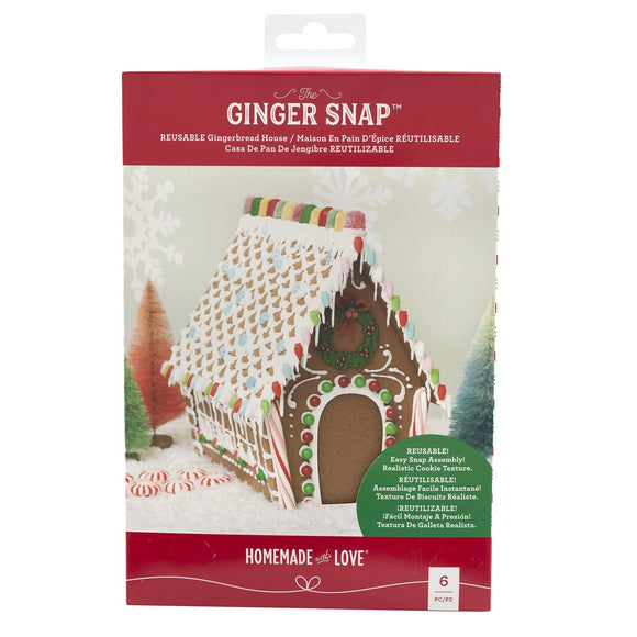 Homemade With Love - Ginger Snap - Reusable Gingerbread House (6 pieces)