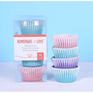 Homemade With Love - Mini Baking Cups Watercolour