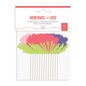 Homemade With Love -  Cupcake Toppers Pompom (12 Pieces)