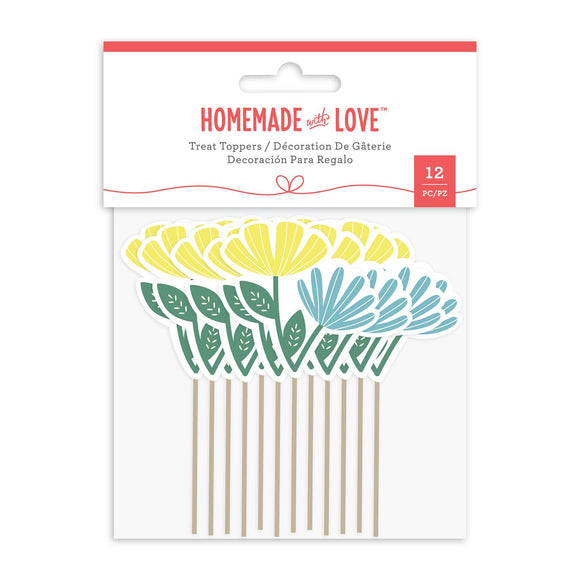 Homemade With Love -  Cupcake Toppers Flower (12 Pieces)