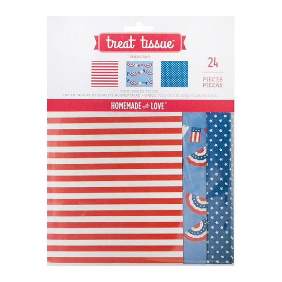 Homemade With Love - Treat Tissue Paper Americana (24 pack)