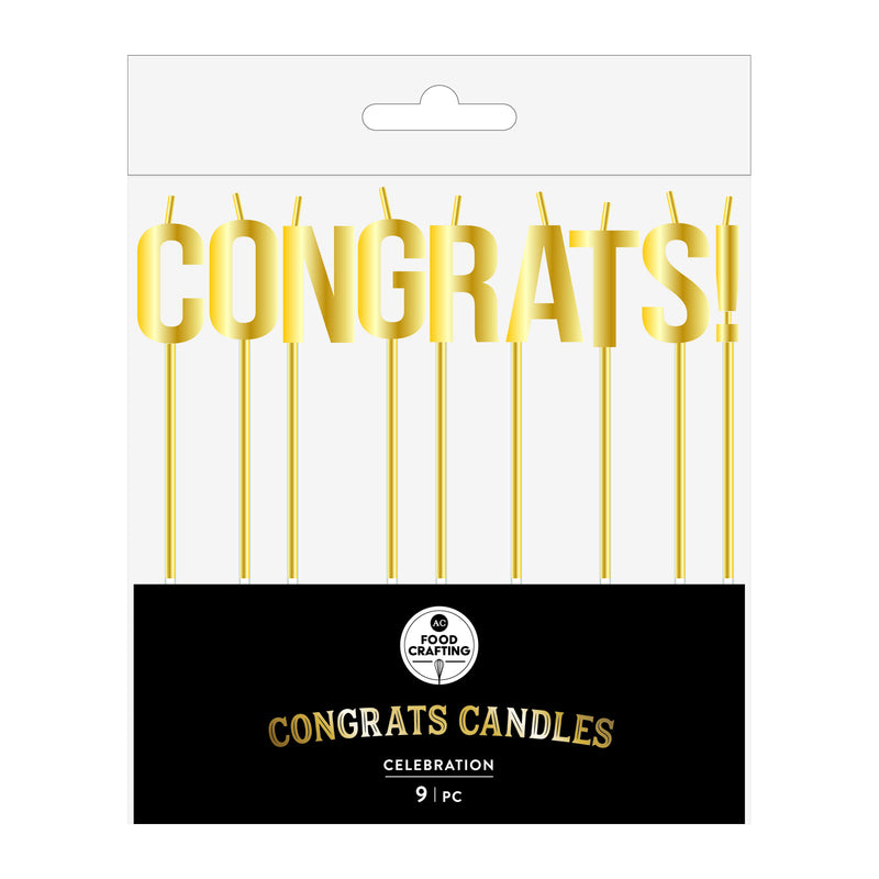 American Crafts - Candles Congrats Gold