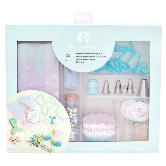Sweet Tooth Fairy - Mermaid Decorating Kit (75 pieces)