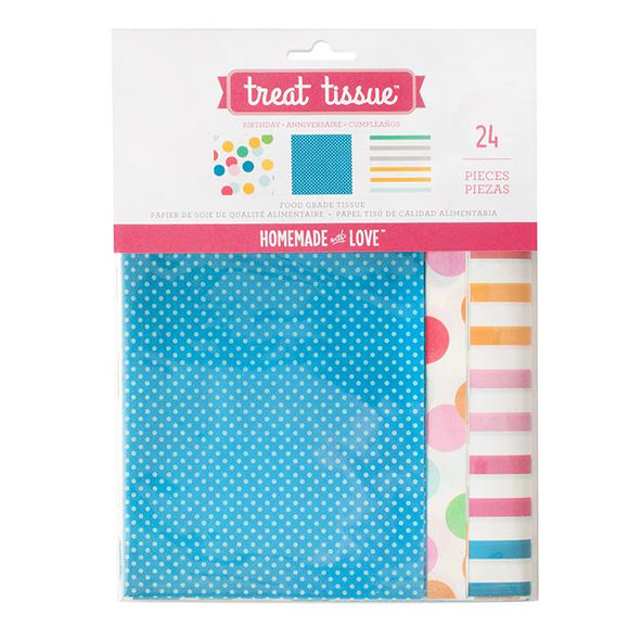 Homemade With Love - Treat Tissue Paper Birthday (24 pack)