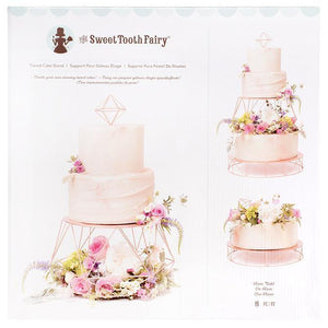 Sweet Tooth Fairy - Cake Stand Tiered Rose Gold (19 pieces)