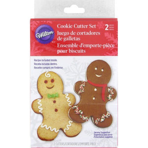 Giant Gingerbread Boy Linzer Cutters 2pc