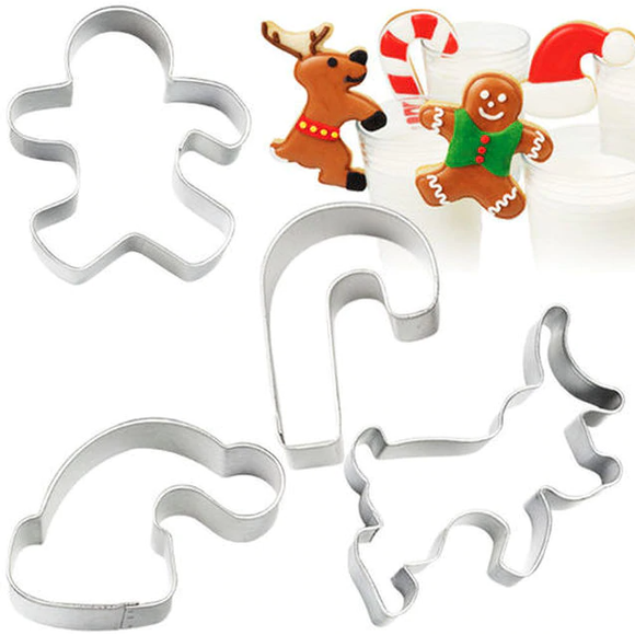 Wilton - Milk & Cookies 4pc Cookie Cutter Set