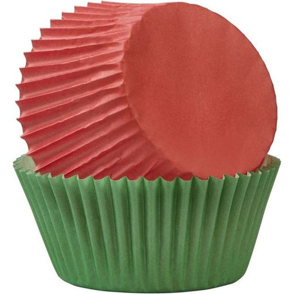 Wilton - Red & Green Standard Baking Cups 75pc