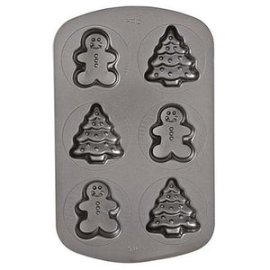 Wilton - Non-Stick 6 Cavity Tree & Gingerbread Man Mould