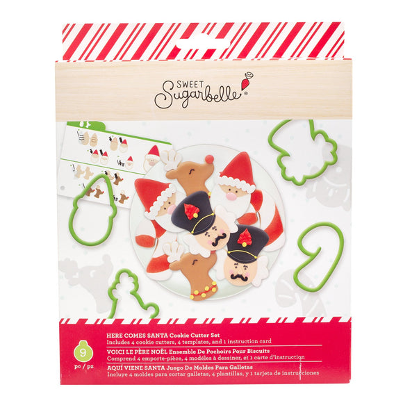 Sweet Sugarbelle - Here Comes Santa Cookie Cutter Set 9pc