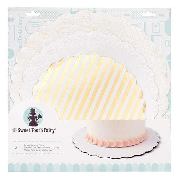 Sweet Tooth Fairy - Sweet Serving Platter - Gold (3 pieces)