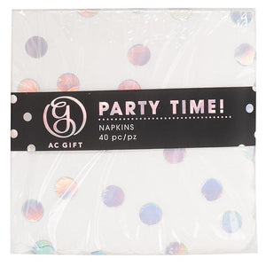 AC Gift - Napkin Scallop Holographic Dot