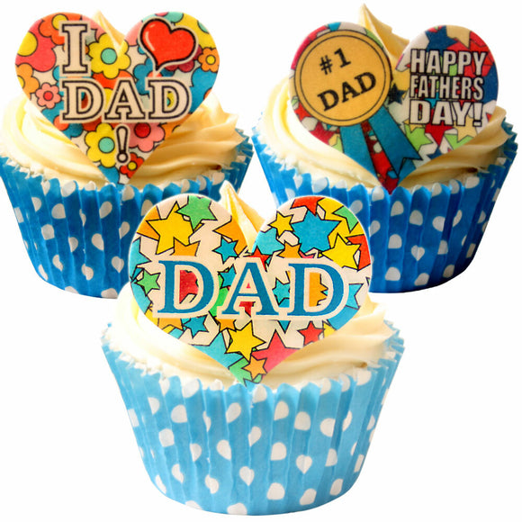 CDA Products -  Fathers Day Heart Toppers (12)