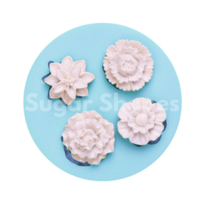 Sugar Shapes - Silicone Mould Flowers Assorted 4pc