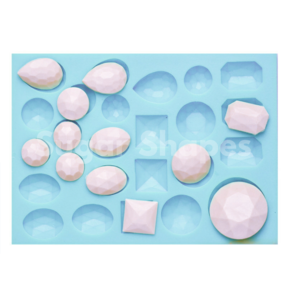 Sugar Shapes - Silicone Mould Gem Assorted 25pc