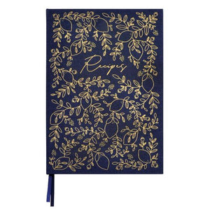 K Style - A4 Recipe Book - Navy Foliage