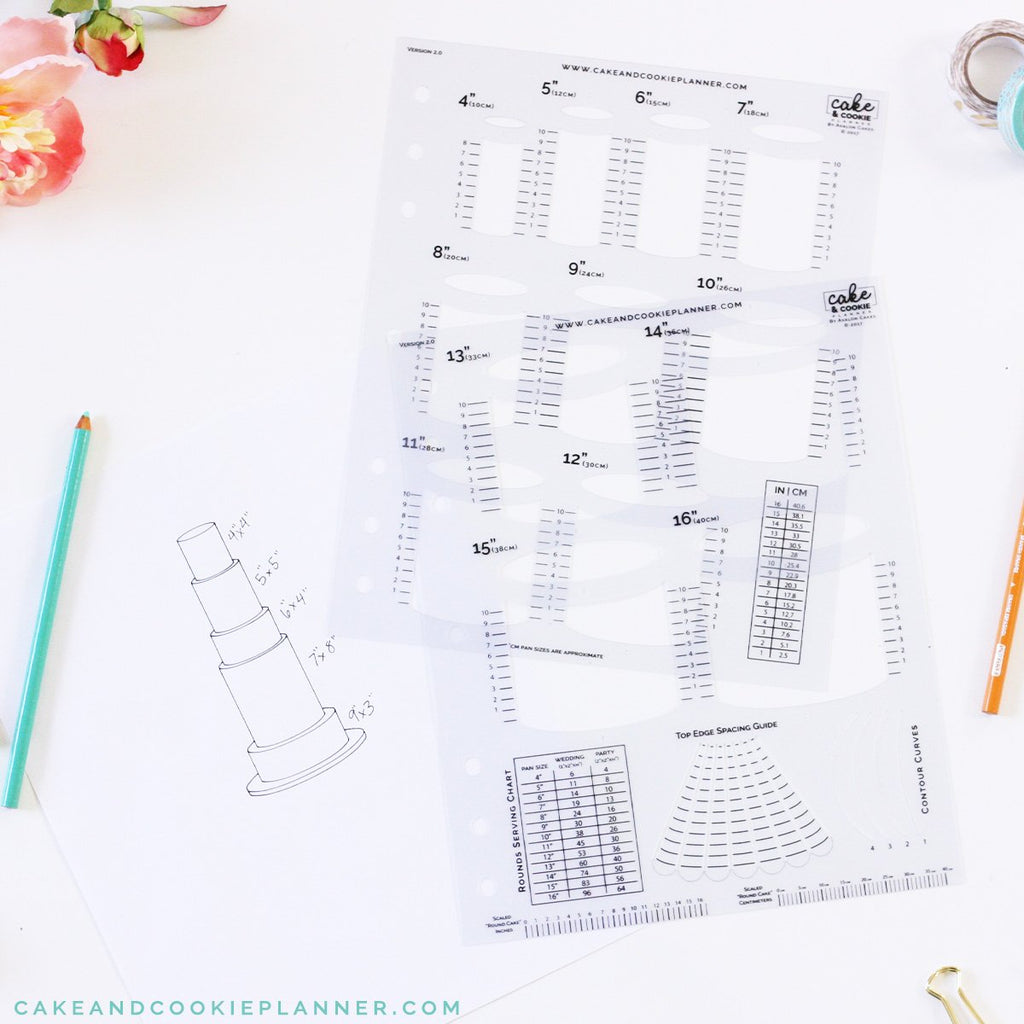 Cake and Cookie Planner Round Cake Sketching Templates