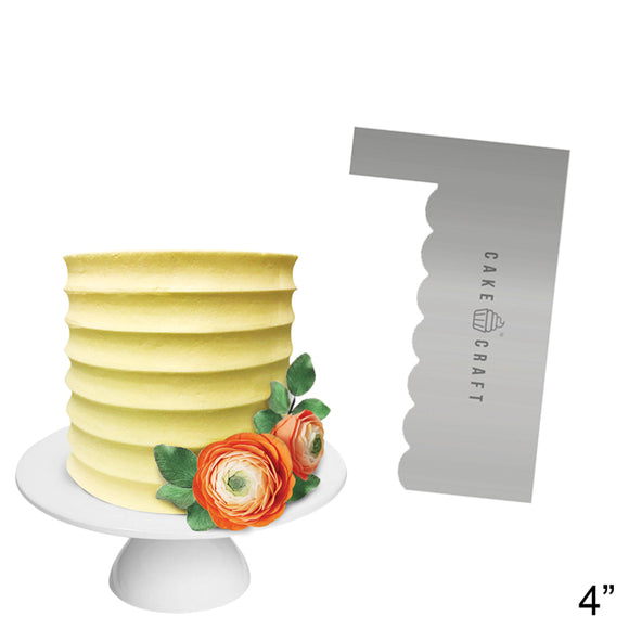 Cake Craft - Buttercream Comb - Contour 4 Inch