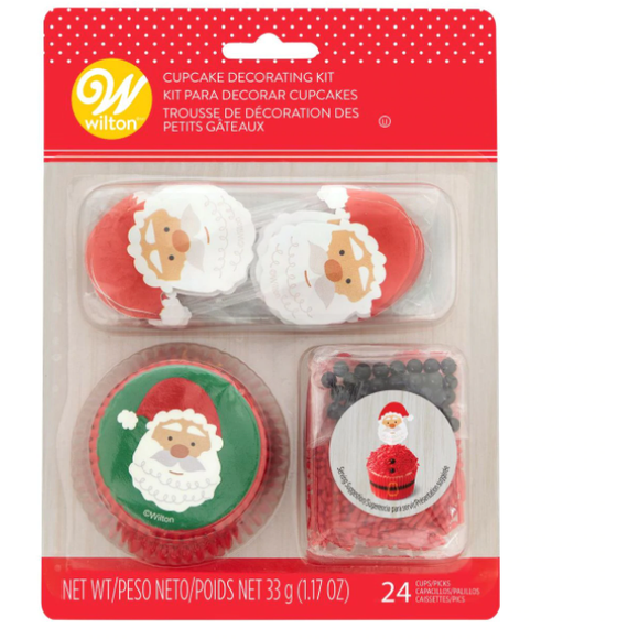 Wilton - Santa Cupcake Decorating Kit