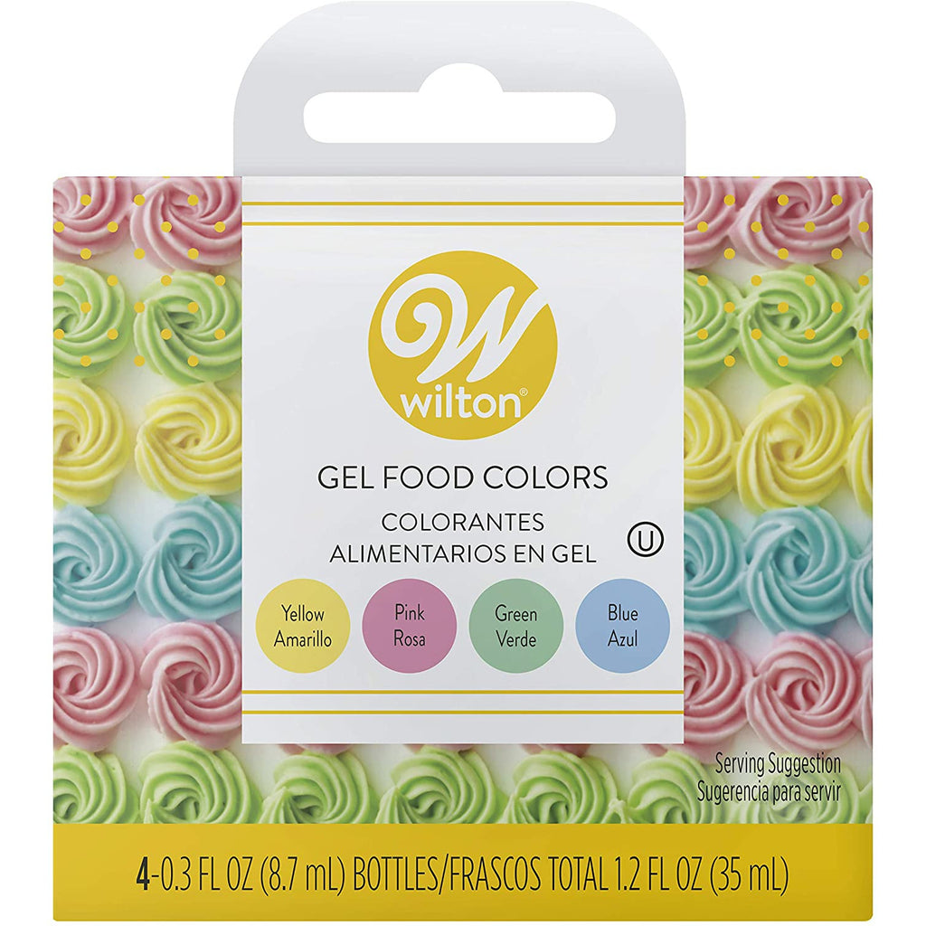 Wilton - 4pc Gel Pastel Icing Colours Set
