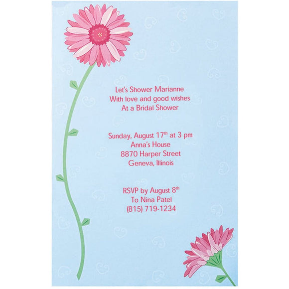 Wilton - Pink Gerbera Daisy Invitation Kits