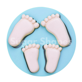 Sugar Shapes - Silicone Mould Baby Feet 2 pc