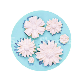 Sugar Shapes - Silicone Mould Daisy Flower Assorted 6pc