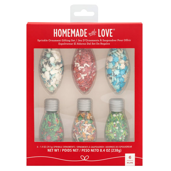 Homemade With Love - Sprinkle Ornament Kit 6pk