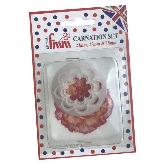 FMM Sugarcraft - Carnation Cutter Set of 3