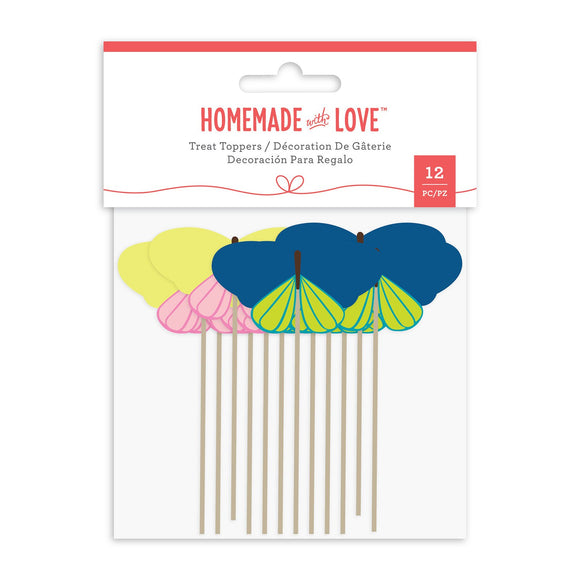 Homemade With Love -  Cupcake Toppers Butterfly (12 Pieces)