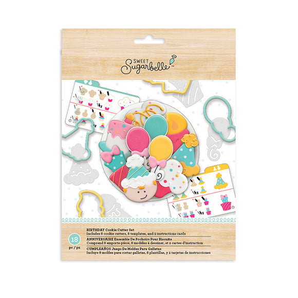 Sweet Sugarbelle - Cookie Cutter Set - Birthday 18 pieces