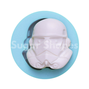 Sugar Shapes - Silicone Mould Starwars Storm Trooper Mask