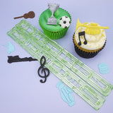 FMM Sugarcraft - Music & Sport Cutter Set