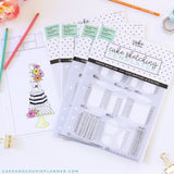 Cake and Cookie Planner Square Cake Sketching Templates