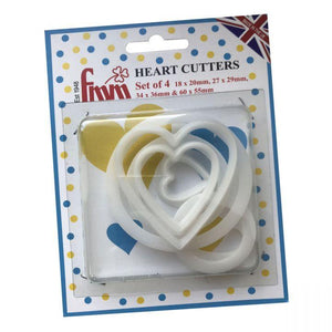 FMM Sugarcraft - Heart Cutter Set of 4