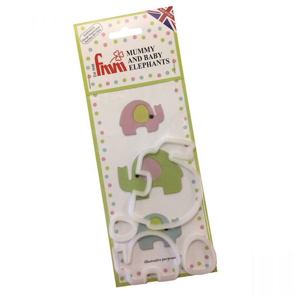 FMM Sugarcraft - Mummy & Baby Elephant Cutter Set