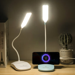 LED desk lamp eye secure student dormitory recharger design inventive gift support a generation of cross-border learning desk lamp-Lucky Chuckie dc