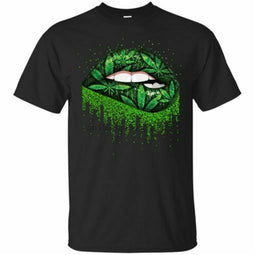 Weed Lips Love T-Shirts-Lucky Chuckie dc