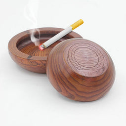 Wood Ashtray-Lucky Chuckie dc