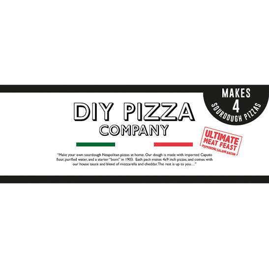 DIY PIZZA KIT - Ultimate Meat Feast 4 Pack Caputo Sourdough