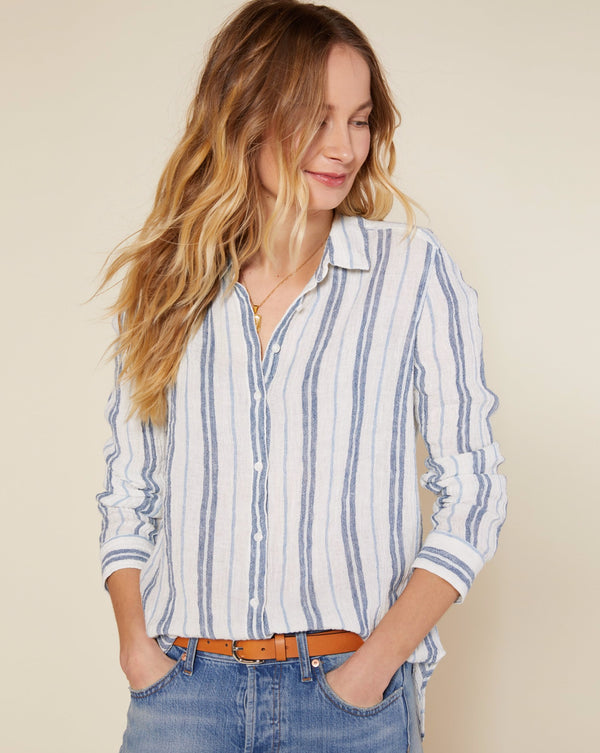 Costa Shirt - Cobalt Sunlit Stripe