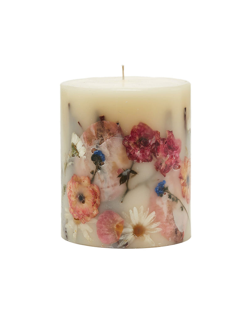 Small Round Botanical Candle - Apricot Rose
