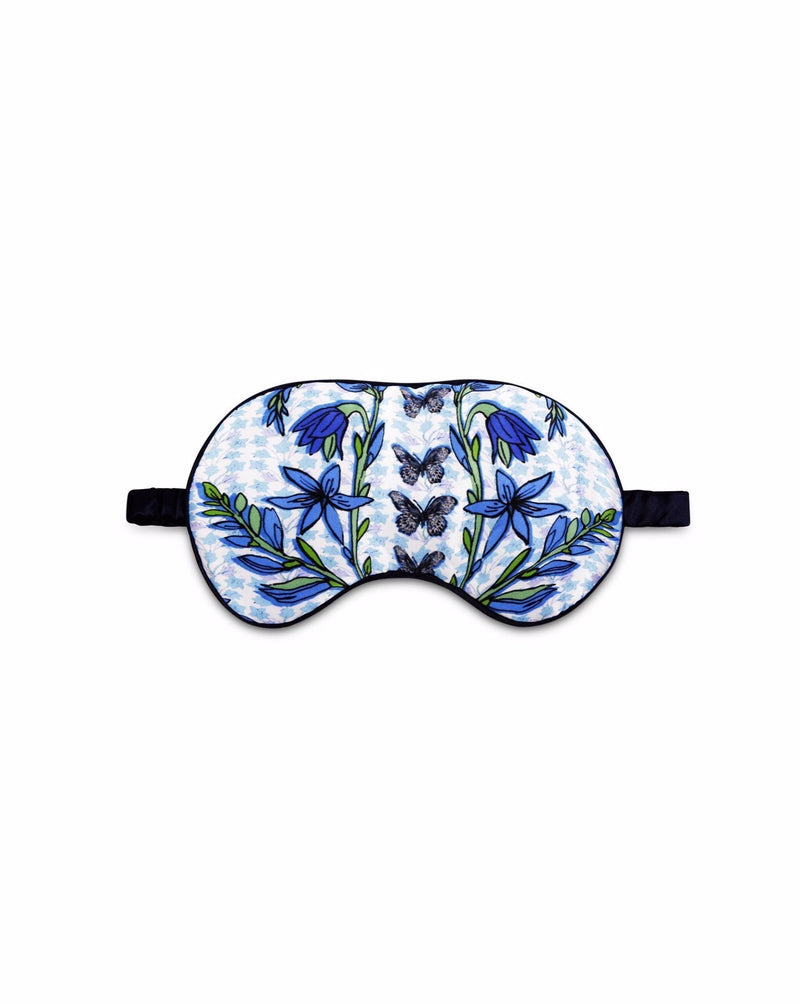 Silk Eye Mask - Folk Butterfly
