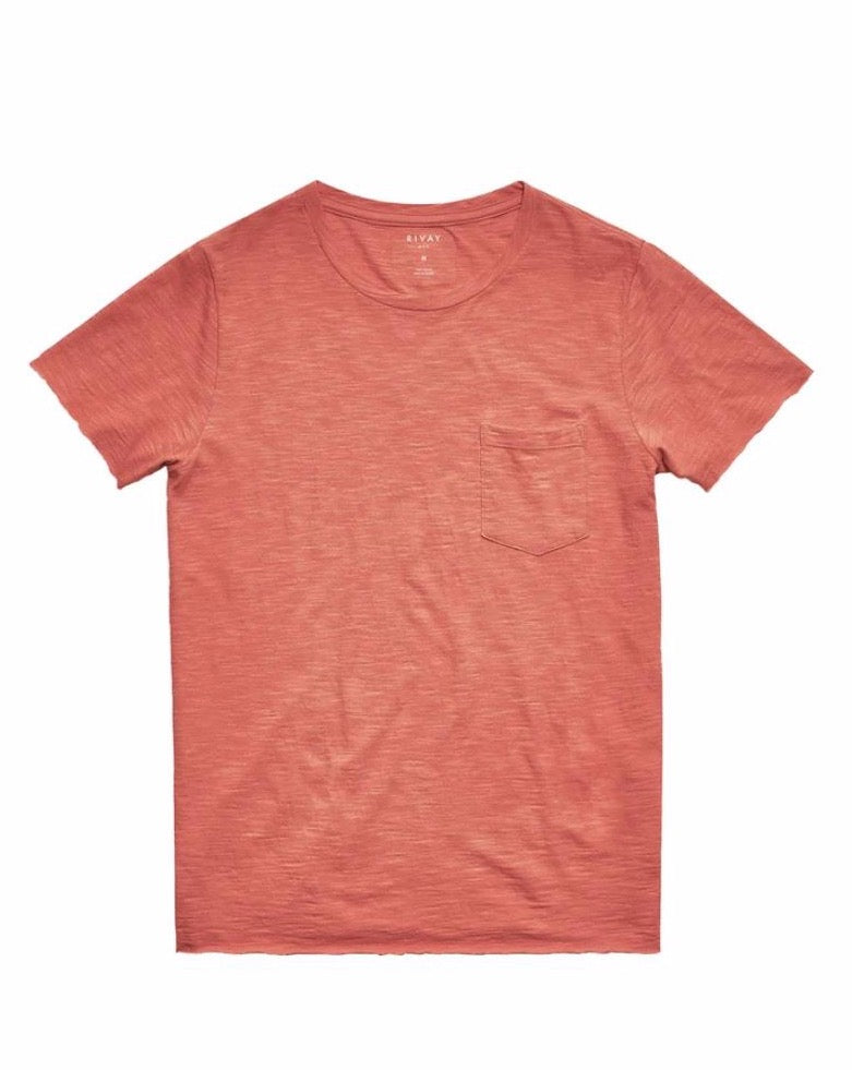 Slub Cotton Pocket Tee - Signal Red